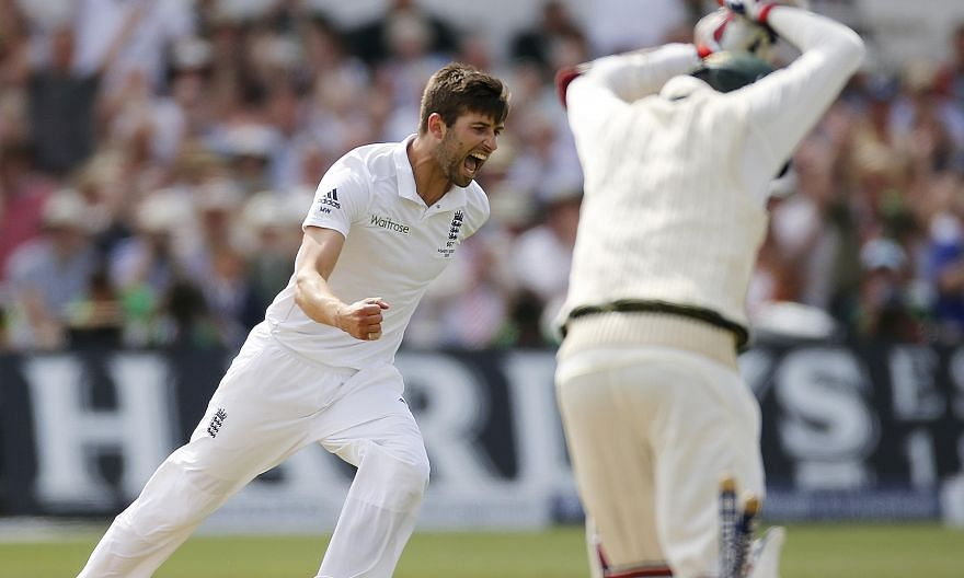 England's Mark Wood wraps up the Test and the Ashes series as he bowls Nathan Lyon at Trent Bridge yesterday to complete the tourists' rout.
