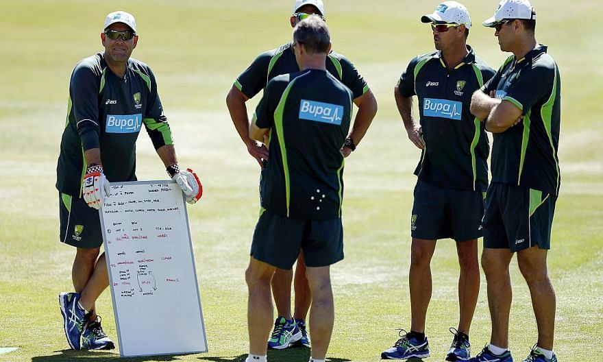 Australia coach Darren Lehmann (left) during a nets session. He and the team's high performance manager Pat Howard have acknowledged their part in the Ashes loss.
