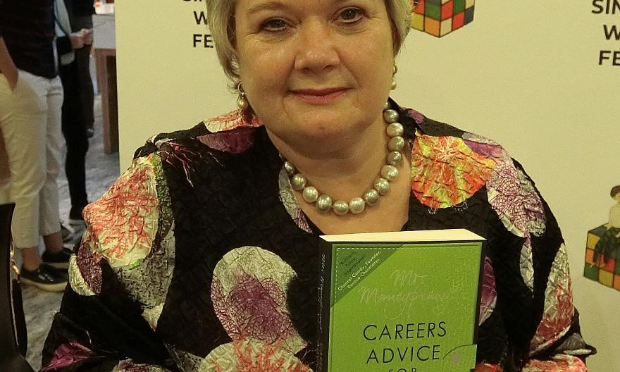 British entrepreneur Heather McGregor, better known as Mrs Moneypenny, with her 2013 bestseller.