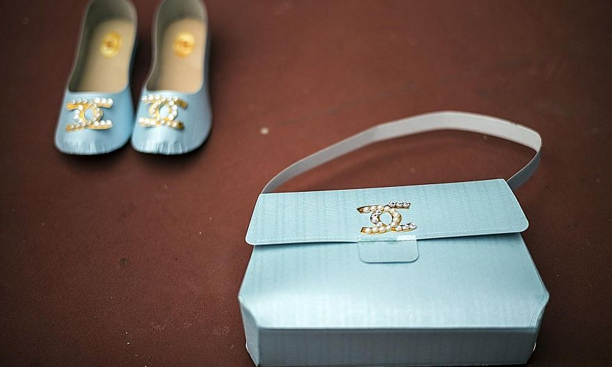 Paper replicas of luxury goods to be burnt as offerings for the deceased in Hong Kong.