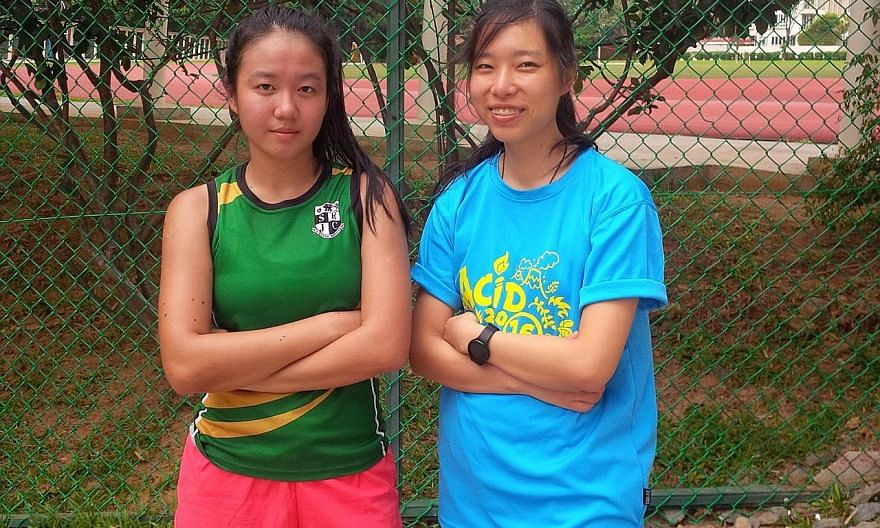 Tan Yan Yeng (left) and Gillian Teng are part of a quartet who have signed up for the adventure race at the July 30 to Aug 7 Singapore National Games.
