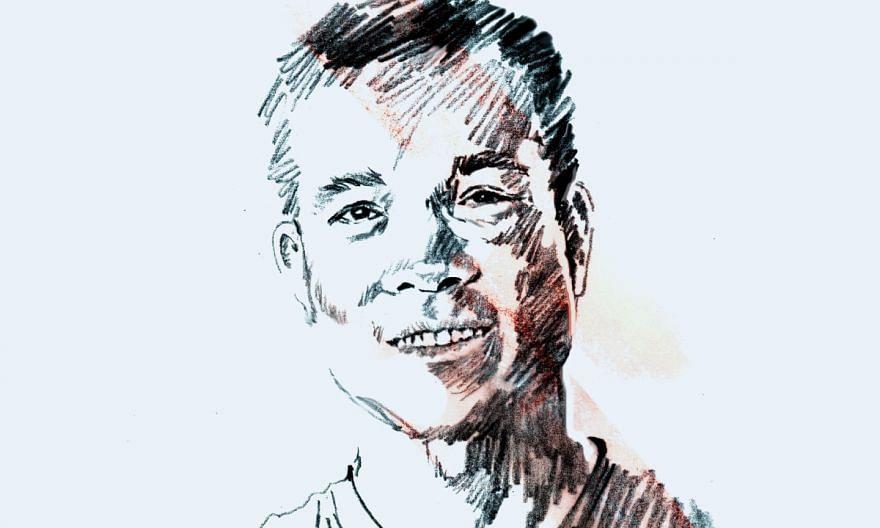 A portrait illustration of Vietnamese shooter Hoang Xuan Vinh.
