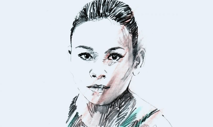 A portrait illustration of Malaysian diver Pandelela Rinong.