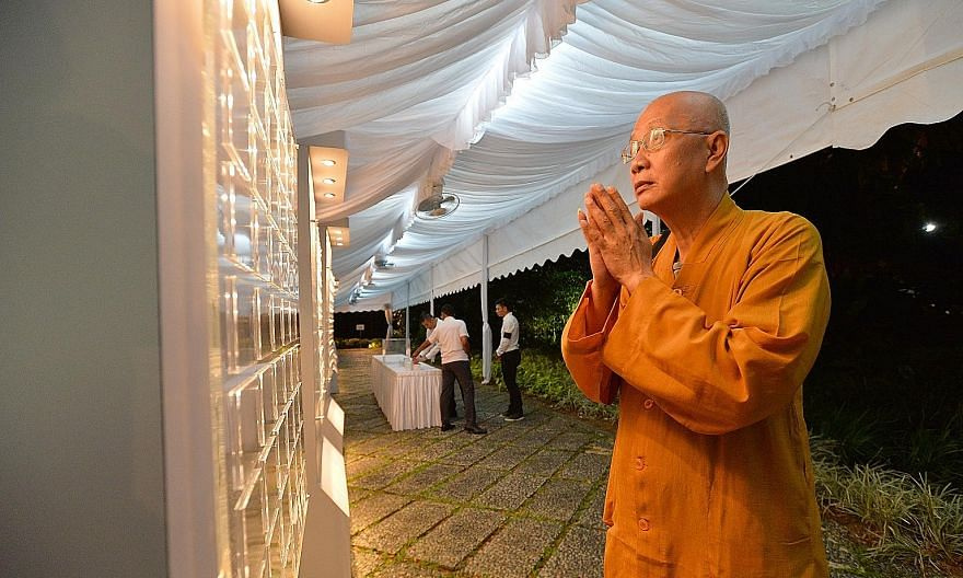 Venerable Shi Fa Rong, 60, went to the Istana around 6.10am yesterday to pay his respects to Mr Nathan. He had met the former president many times during community events, and said he was sad over Mr Nathan's death. The former president was remembere