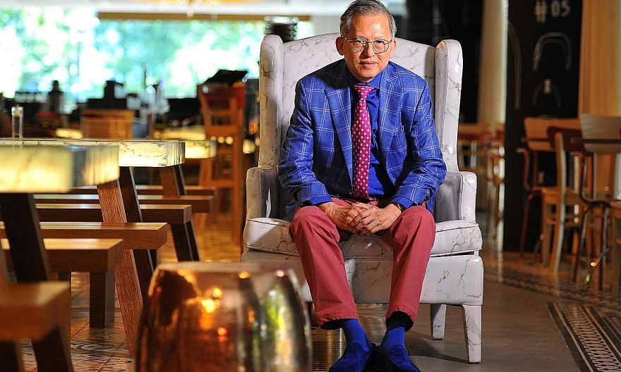 Mr Kwek Leng Beng (above) at the Beast & Butterflies restaurant of his three- month-old M Social hotel.