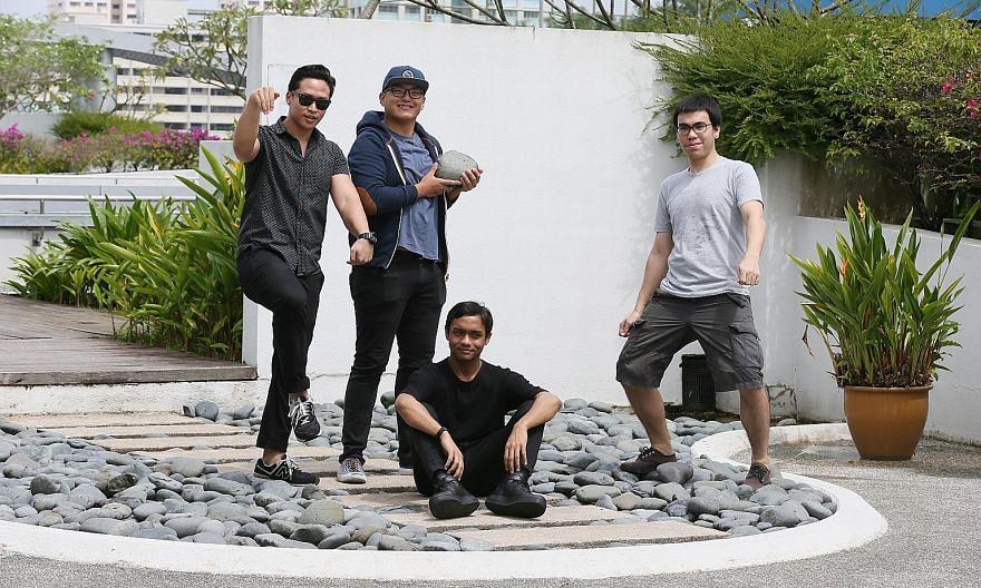 Members of T-Rex (from left) Junaidi Kusnong, Bryan De Rozario, Ahmad Khaliq and Axel Serik will release their debut album, Volume 1, at Laneway.