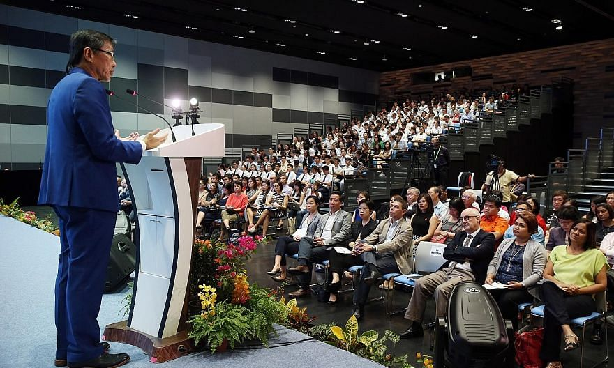 In his keynote address, Mr Ho says that one big impediment in adapting to disruptive change is the glaring contradiction between Singapore's numerous scholastic achievements on the one hand and its lack of innovative capabilities on the other. In the