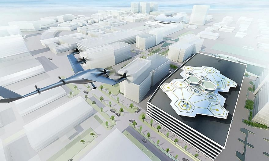 "The Uber plan includes partnerships for ""vertiports"" for the flyers to take off and land, along with charging stations for the transporters, which are expected to be mainly electric-powered."