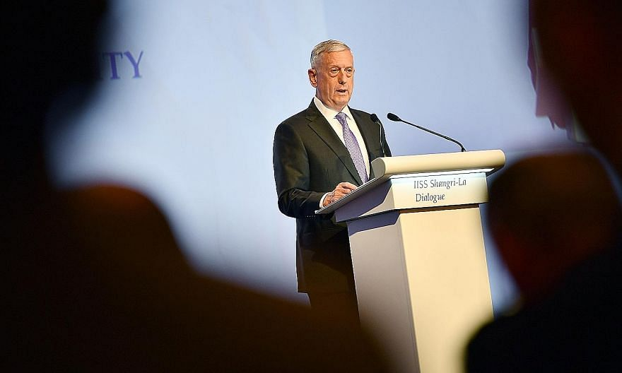 In his speech, US Defence Secretary James Mattis assured countries of America's enduring commitment to the region's security and prosperity.