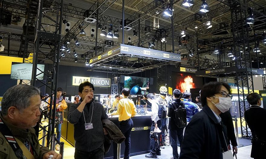 The Nikon booth at CP+ Photo and Imaging Show in Yokohama earlier this year. Nikon did not announce any new product at the event, the first time it has happened since the inception of the show in 2010.