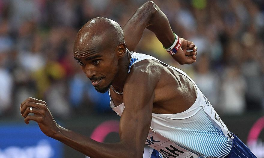 Britain's Mo Farah on his way to winning silver in the 5,000m at the World Championships. The four-time Olympic gold medallist has made a switch to marathon running.