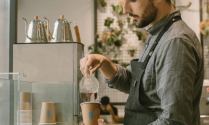 A Blue Bottle Coffee shop in the Bushwick neighbourhood of Brooklyn. Blue Bottle announced on Thursday that it had sold a majority stake to Nestle, one of the surest signs yet of how so-called third-wave speciality coffee has become a hot business.