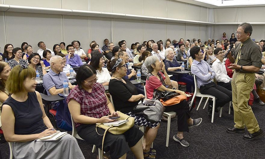Professor Kua Ee Heok, Singapore's mental health doyen, kept participants of The Big Read Meet riveted for 75 minutes, its longest talk since the Meet started in 2013.
