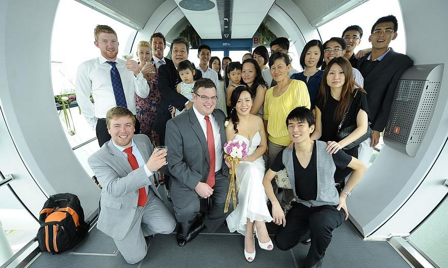 Mr Geoffery Cassidy and Ms Miranda Tang at their marriage solemnisation in 2011. The remaining shareholders of Zetta Jet have filed a lawsuit against Mr Cassidy, Ms Tang and Singapore-based Asia Aviation Holdings, of which the couple are both directo