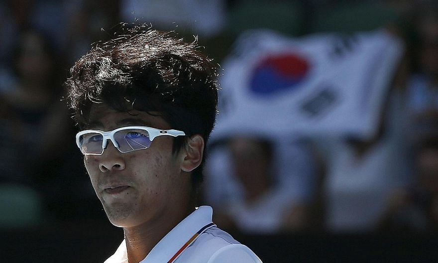 """Practically unknown in South Korea a fortnight ago, Chung - dubbed """"The Professor"""" because of his trademark thick, white-rimmed glasses - has quickly gained superstar status at home."""