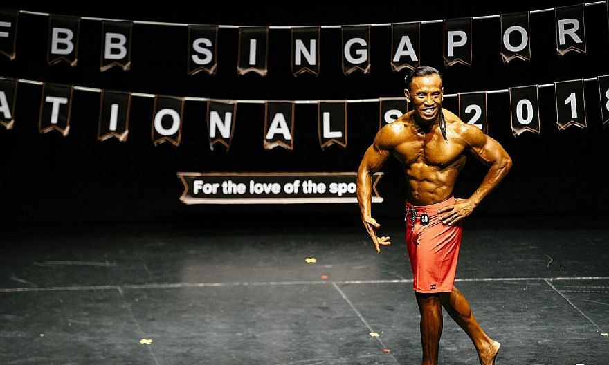 Abdul Ghani, 54, was the oldest competitor at the International Federation of Bodybuilding and Fitness Singapore Nationals.