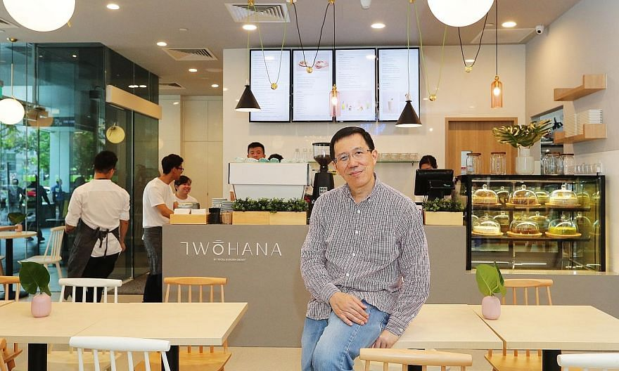 Seoul Garden Group chief executive officer Andrew Lee at its new concept, Two Hana cafe.