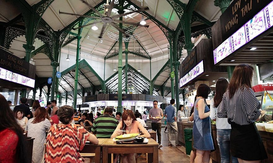Lau Pa Sat in Raffles Quay is a popular food haunt for those working in the Central Business District.