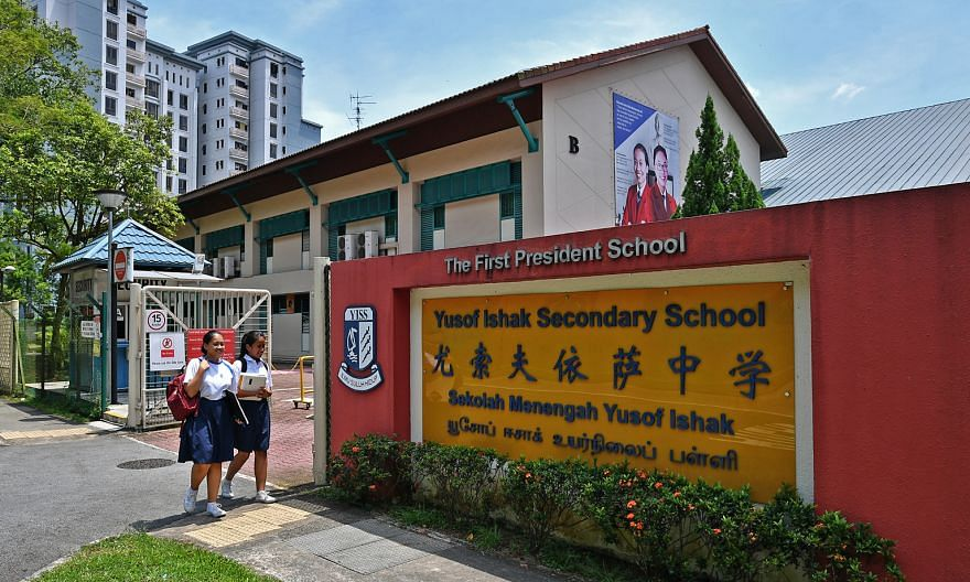 Yusof Ishak Secondary School, which moved to Bukit Batok in 1999 and now has 400 students, projects to have 1,300 at its new campus in Punggol. It will move to its new site in 2021.
