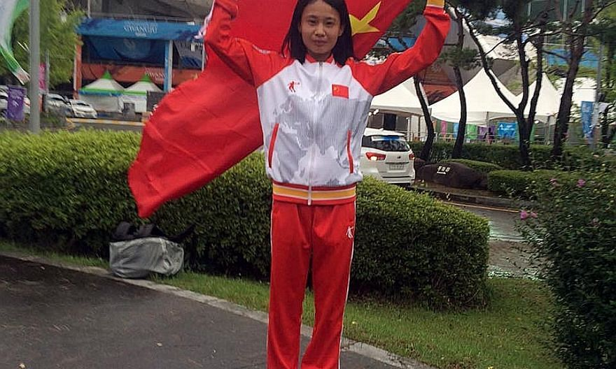Chinese Zhang Meixia was eighth at the Asian Games marathon in Jakarta in August, clocking 2hr 41min 30sec.
