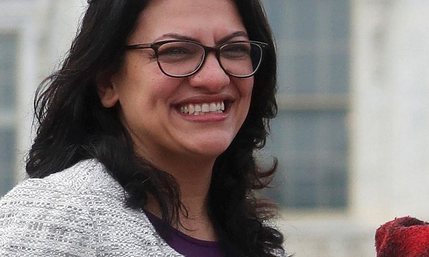 Born in Detroit to Palestinian immigrants, Ms Rashida Tlaib grew up poor and did not speak English when she started school.