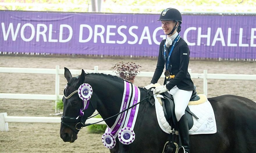 Annabelle Rehn with her horse Aros A' Fenris at last year's World Dressage Challenge. The two had just two weeks to train together.