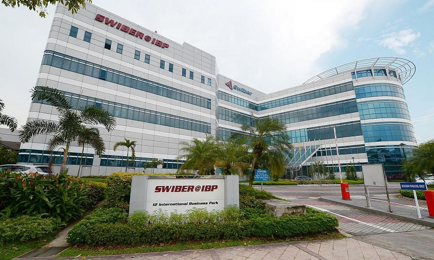 Swiber Group's key assets include its headquarters at 12 International Business Park and specialised construction vessels.