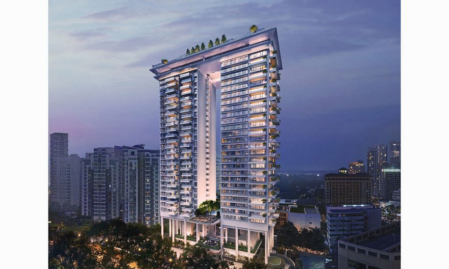 City Developments' latest luxury condo project Boulevard 88 has two 28-storey residential towers and is located just off Singapore's prime Orchard Road shopping district.