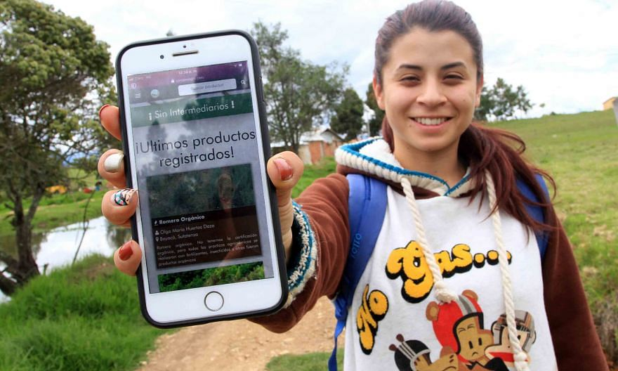 Ms Ginna Jimenez created Comproagro, an app that allows Colombian farmers to offer their produce directly to consumers.