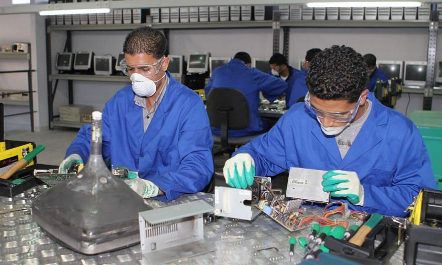 Al Jisr's Green Chip initiative, launched about 10 years ago, enables young people to learn about hardware by taking apart old computers.