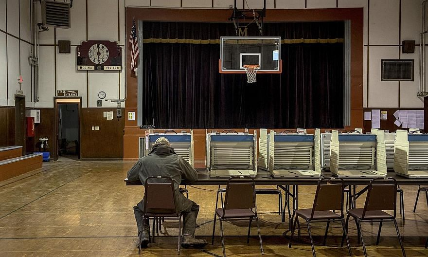 A voter casting his ballot during the midterm elections in Medina, North Dakota, last year. Despite a Senate Intelligence Committee report which concluded that Russia interfered extensively in the 2016 election, Republican senators blocked three elec