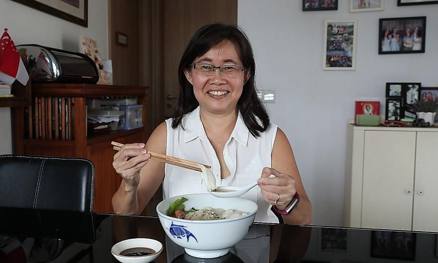 Ms Wong Wai Yen's sliced fish bee hoon soup can be made with snakehead or red garoupa, among other fish.