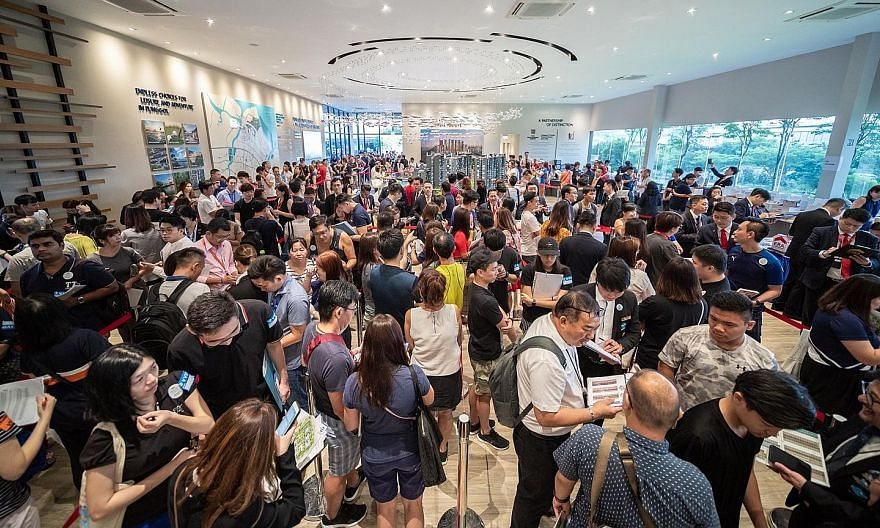 """Piermont Grand's launch over the weekend saw 375 of its 820 units snapped up. The executive condominium, which boasts """"well-curated facilities and premium fittings"""", overlooks My Waterway@Punggol and is a three-minute walk to Sumang and Nibong LRT st"""