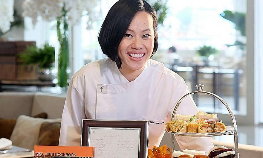 Ms Shermay Lee compiled over 100 of Madam Chua Jim Neo's recipes into The New Mrs Lee's Cookbook in 2003, and a new print run is due out soon. PHOTO: SHERMAY LEE