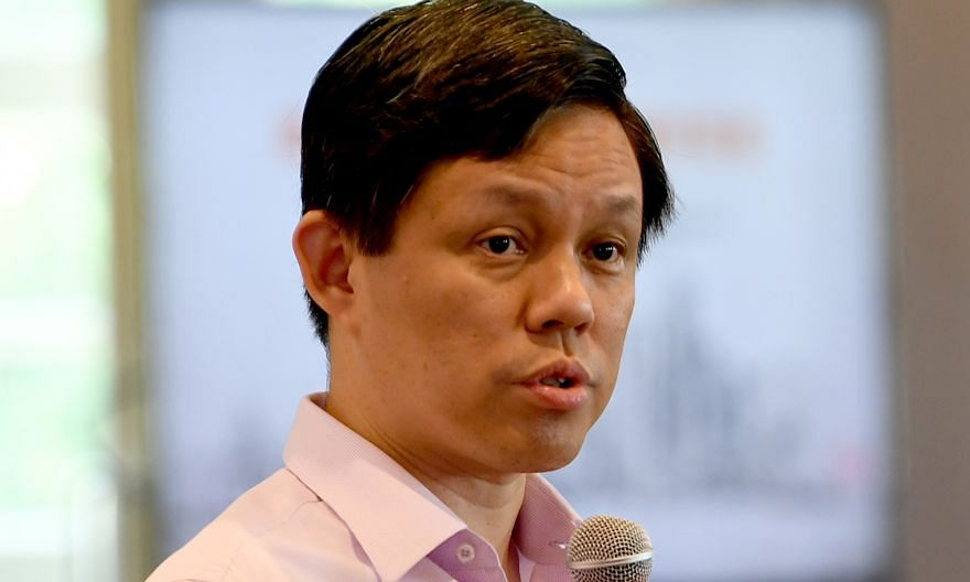 Minister for Trade and Industry Chan Chun Sing was chairing a dialogue session organised by government feedback unit Reach and Lianhe Zaobao.