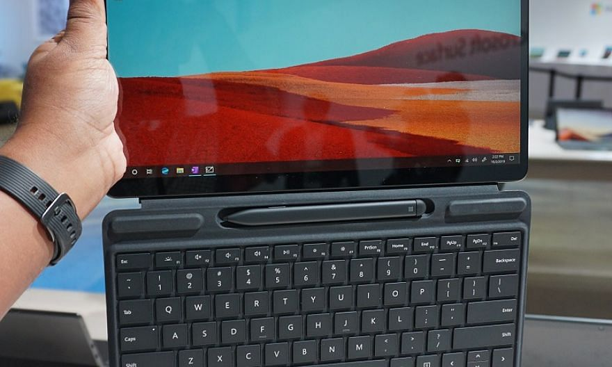 The Microsoft Surface Pro X is the latest addition to the Surface family. ST PHOTO: VIJAY ANAND