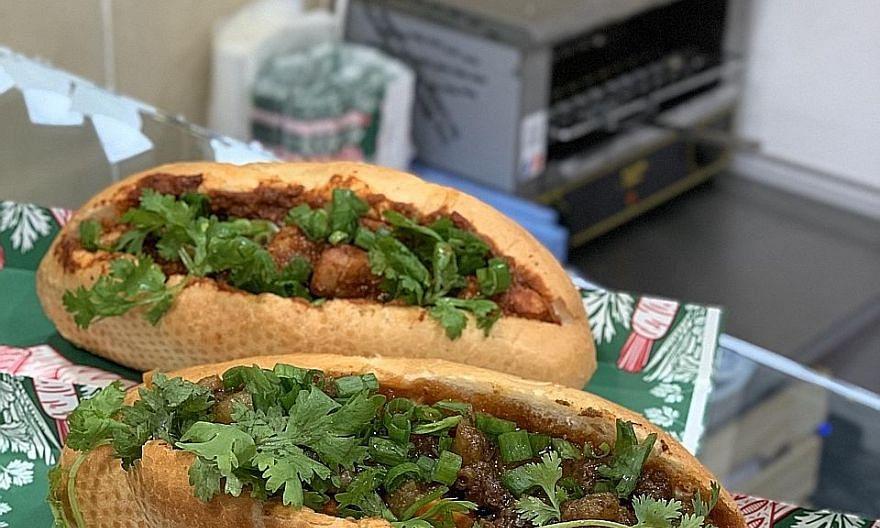 Grilled beef banh mi at Banh You, Banh Mi at Suntec City.