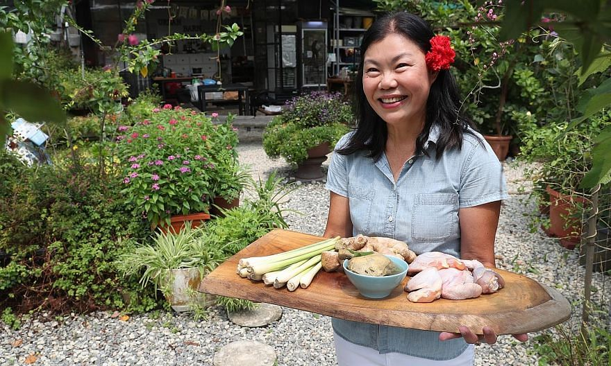 Ms Eng Ting Ting's lemongrass chicken soup is based on a recipe handed down by her 82-year-old mother.