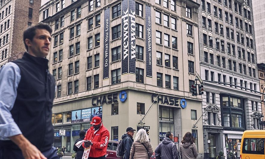 A WeWork location in New York. The staff cuts globally could be announced as early this week, say people with knowledge of the matter.