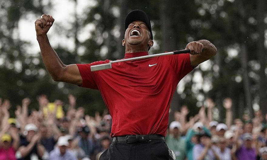 Former world No. 1 golfer Tiger Woods wins the Masters for his first Major in 11 years, overcoming loss of form, debilitating injury and personal upheaval.