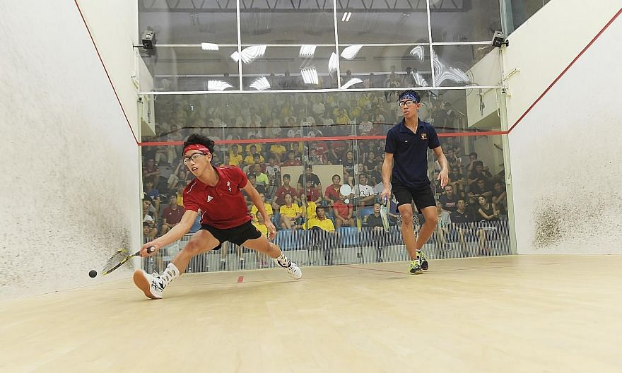 An A Division boys' squash game being played at the Kallang Squash Centre last May. The centre is expected to be demolished by next year. ST FILE PHOTO