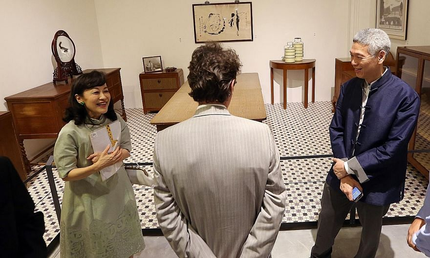 Mr Lee Hsien Yang and Mrs Lee Suet Fern at the preview of We Built A Nation, an exhibition in 2015 at the National Museum of Singapore, where furniture and items from Mr Lee Kuan Yew's house were on display. Mr Lee said in a post on Facebook yesterda