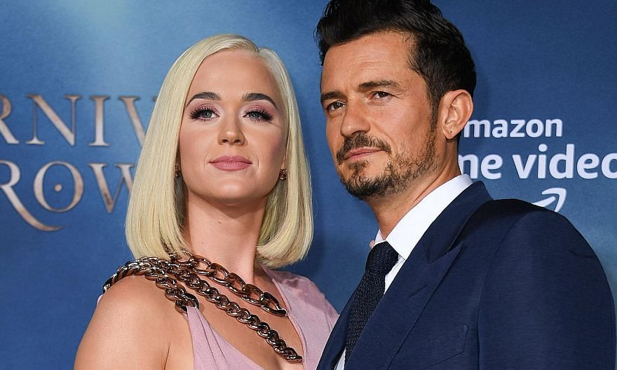 Pop singer Katy Perry and her fiance, actor Orlando Bloom (both left), at the Los Angeles premiere of the Amazon Original Series, Carnival Row, last August.