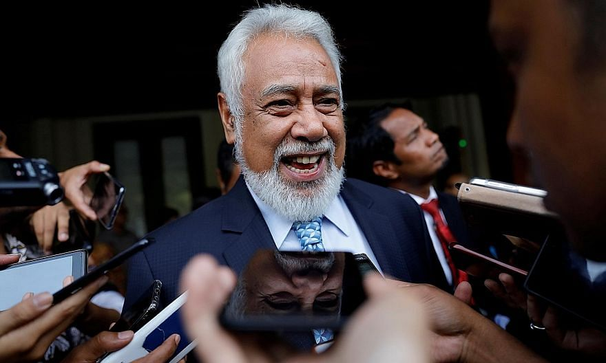Former prime minister of Timor-Leste Xanana Gusmao last month announced he had formed a new coalition. PHOTO: REUTERS