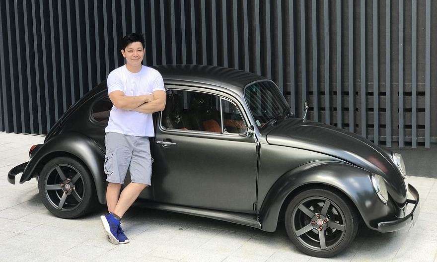 Mr Cash Ong (above) has restored his Beetle twice – almost all the electrical, mechanical and wear-and-tear parts have been changed, so the car is now practically new.