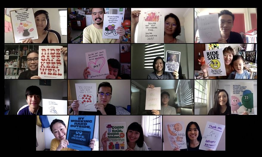 Advertising agency Kinetic Singapore started a ThankYouDeliveryHeroes poster campaign, where people can print out posters and stick them on their doors to thank delivery workers. The experience of living through a major trauma like Covid-19 heightens