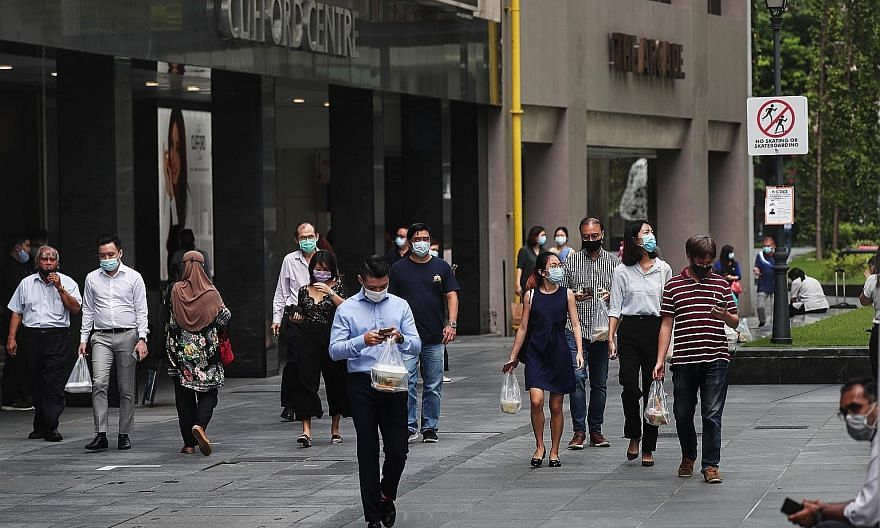 A spokesman for the Ministry of the Environment and Water Resources said there has been a general decline in the number of people fined for breaching safe distancing and not wearing masks since measures were introduced in April, as most understand th