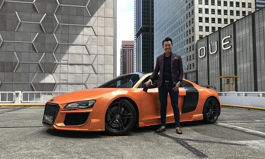 Mr Raphael Seow (above), director of a financial management group, bought his 2010 Audi R8 4.2 V8 in September last year.