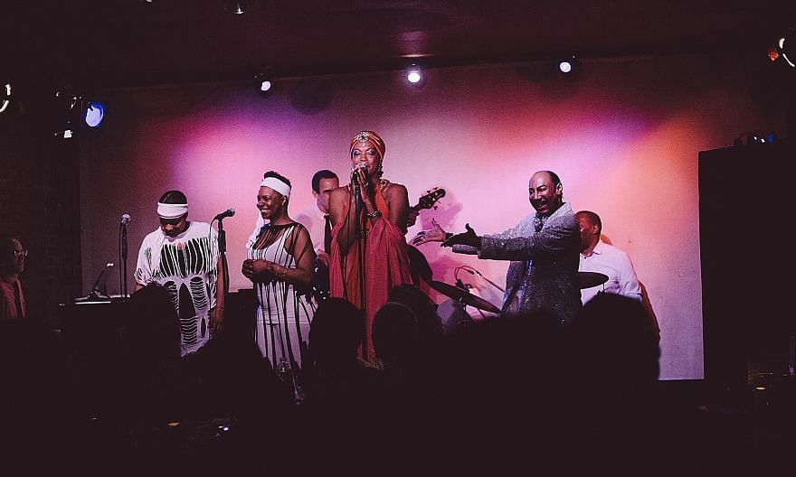 Shailah Edmonds in her cabaret show at the Don't Tell Mama nightclub in Manhattan in January.