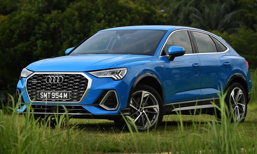 Features of the Audi Q3 Sportback include a 360-degree camera system, a 12-inch digital instrumentation panel and a 10-inch infotainment touchscreen.